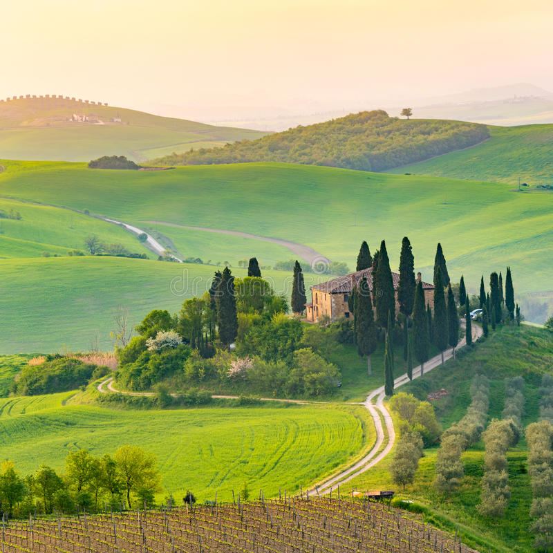 ` Orcia, Toscana, Italia di Val d fotografia stock