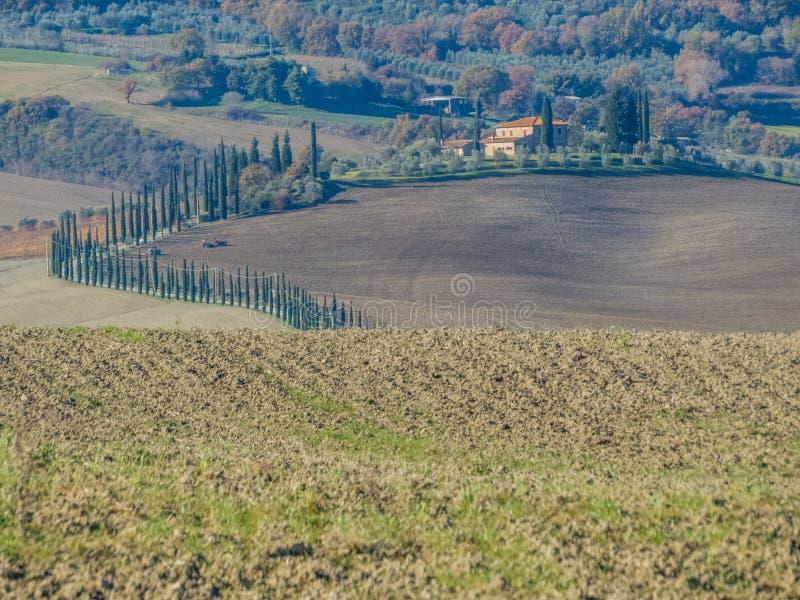 ` Orcia, Toscane de Val d images libres de droits