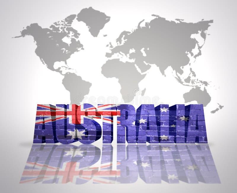 Ord AUSTRALIEN stock illustrationer