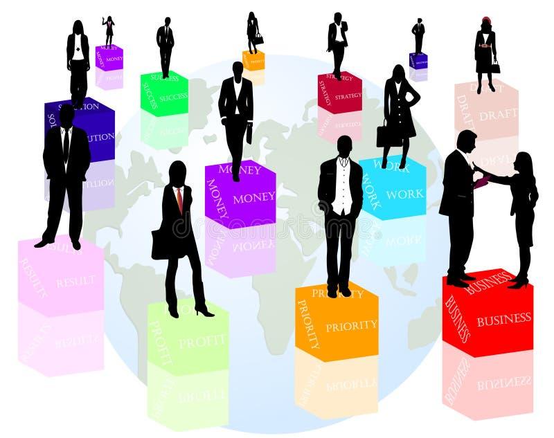 ord för affärsfolk vektor illustrationer