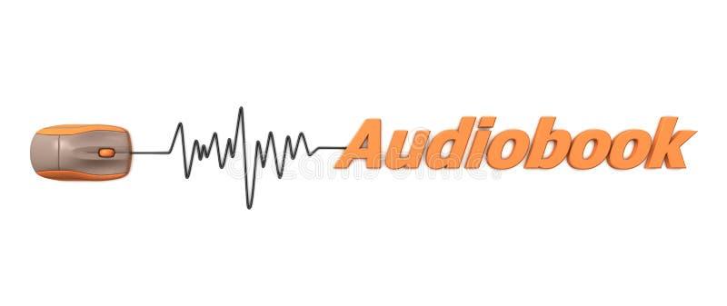 ord för audiobookmusorange royaltyfri illustrationer