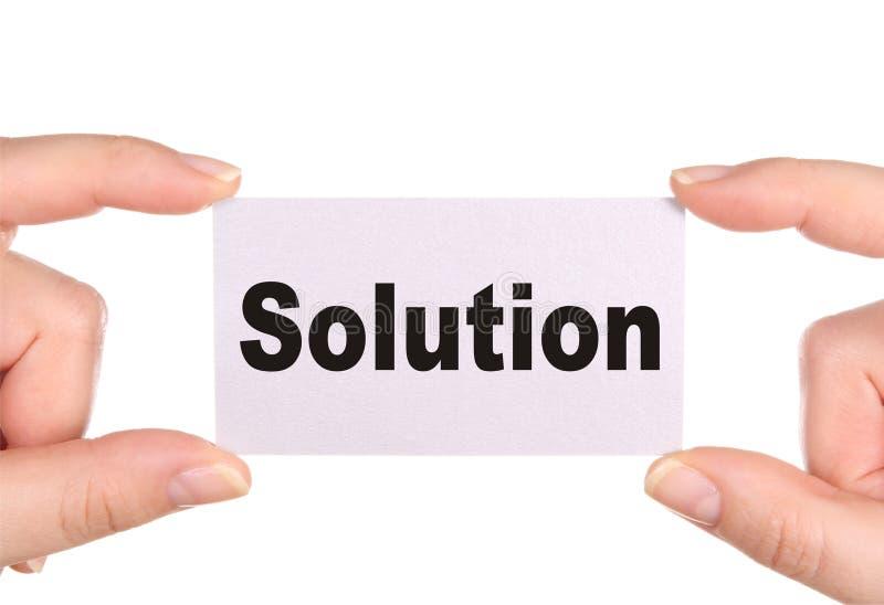 ord för lösning för affärskort arkivbild