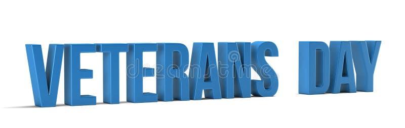Ord för veterandag 3d framför illustrationen i vit bakgrund royaltyfri illustrationer