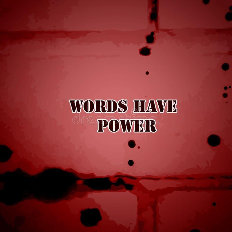 Ord har makt vektor illustrationer
