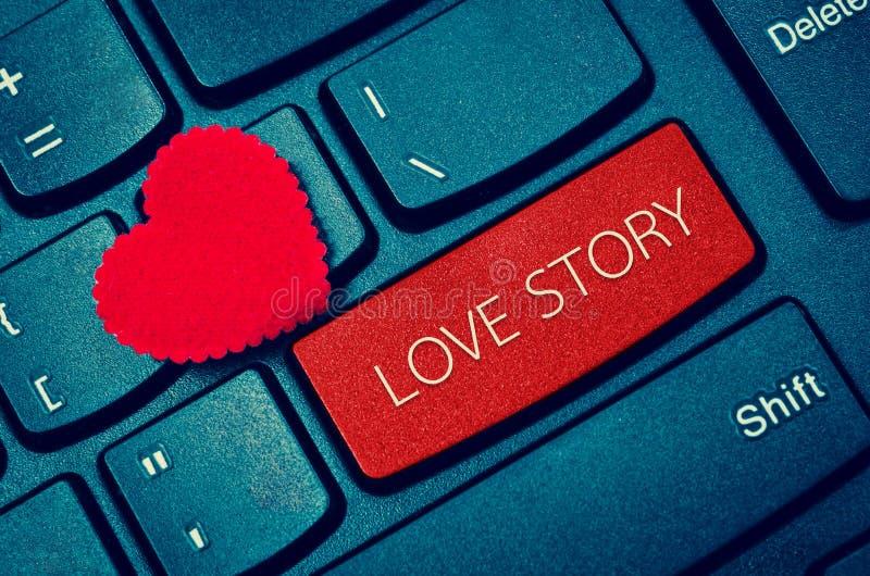 Ord LOVE STORY royaltyfria foton