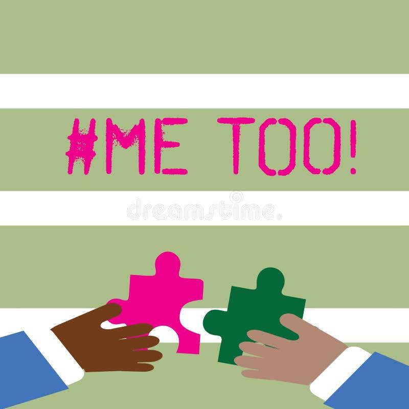 Ord som för skriver text Hashtagme Affärsidé för Grow som är stark och som är modig nog att anmäla missbruk, mobbning, anfall stock illustrationer