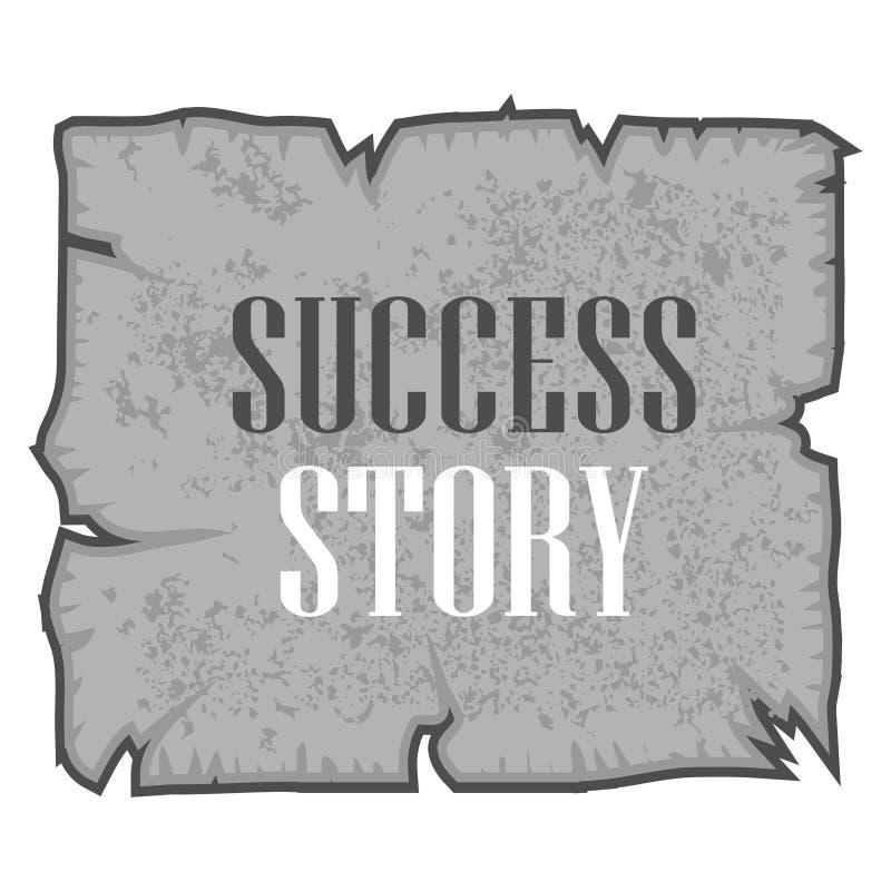 Ord som skriver framgångssaga Vektorillustrationbegrepp för den skriftliga inspirationmotivationen vektor illustrationer