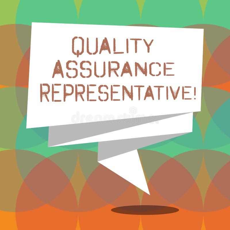 Ord som skriver representanten för textkvalitetsförsäkring Affärsidéen för Develops och genomför kvalitets- kontroll vek bandet 3 royaltyfri illustrationer