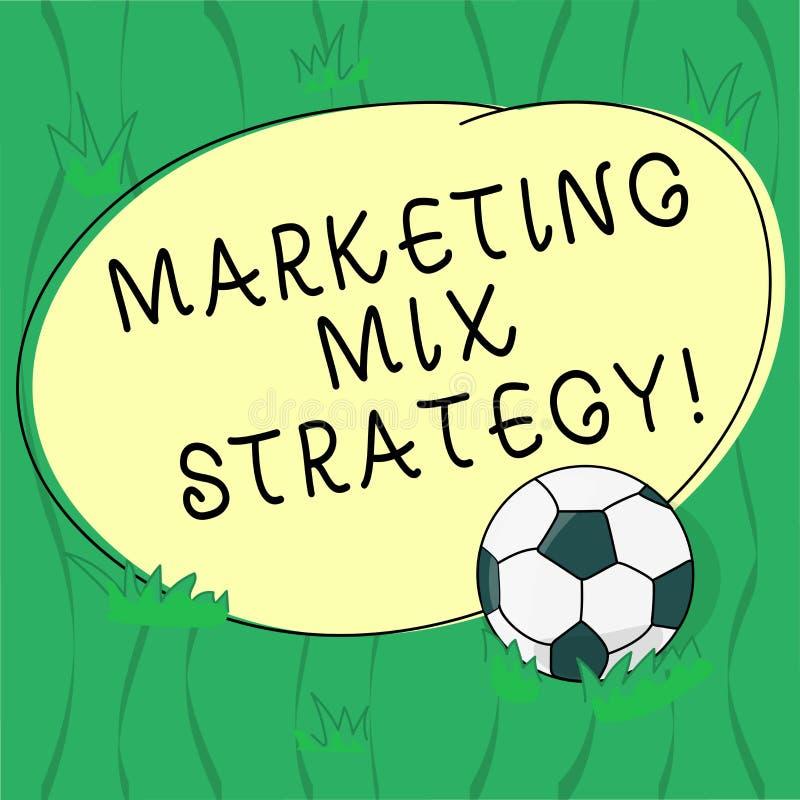Ord som skriver strategi för textmarknadsföringsblandning Affärsidé för uppsättning av governable taktiskt företagsbruk för markn stock illustrationer