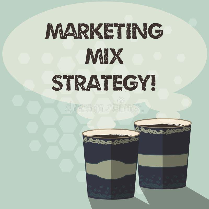 Ord som skriver strategi för textmarknadsföringsblandning Affärsidé för uppsättning av governable taktiskt företagsbruk två för m stock illustrationer