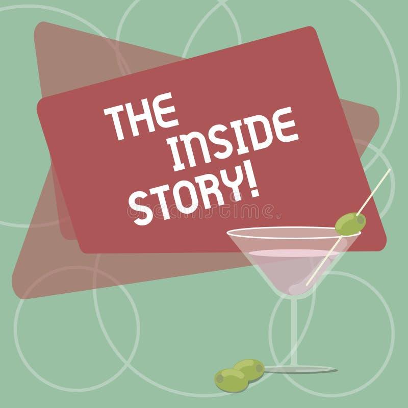Ord som skriver text den inre berättelsen Affärsidé för information som är bekant visa endast nära fyllt involverat royaltyfri illustrationer