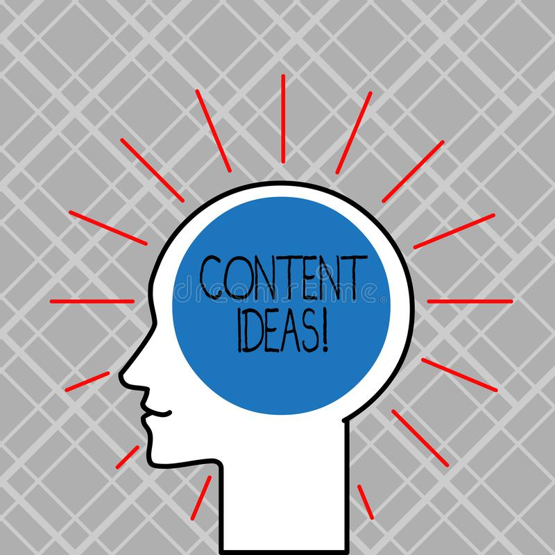 Ord som skriver text nöjda idéer Affärsidé för den formulerade tanken eller åsikten för den nöjda aktionen vektor illustrationer