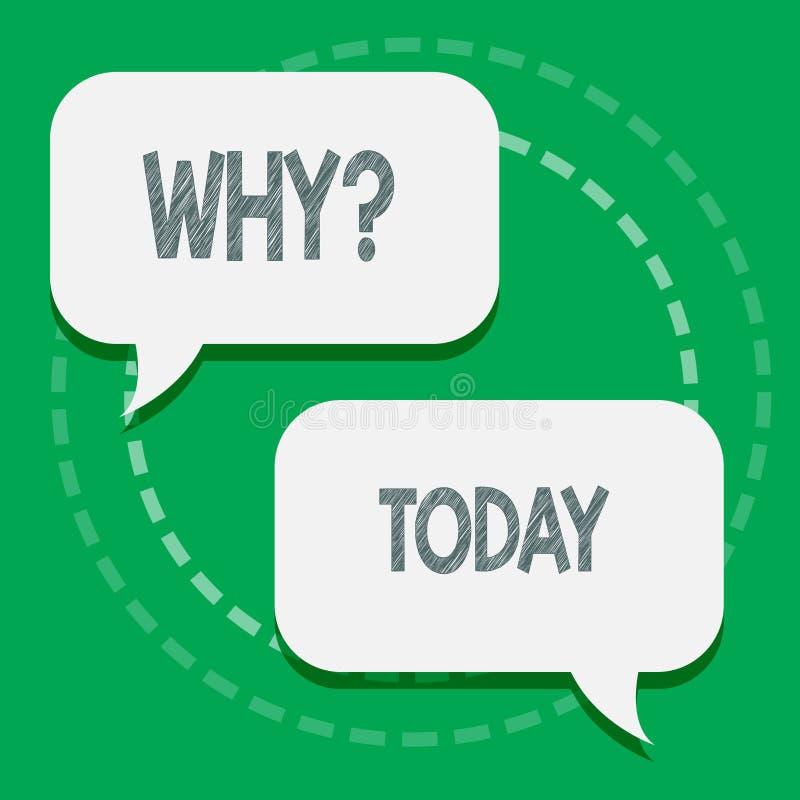 Ord som skriver text Whyquestion Affärsidéen för att fråga för specifika svar av något förhör frågar två royaltyfri illustrationer