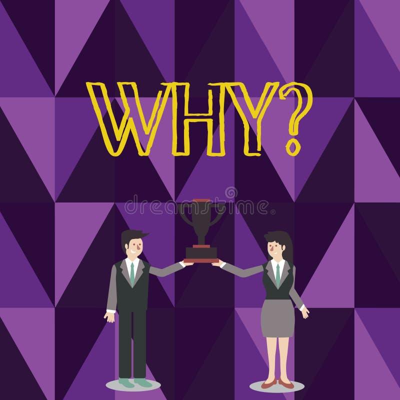 Ord som skriver text Whyquestion Affärsidéen för att fråga för specifika svar av något förhör för att fråga mannen och vektor illustrationer