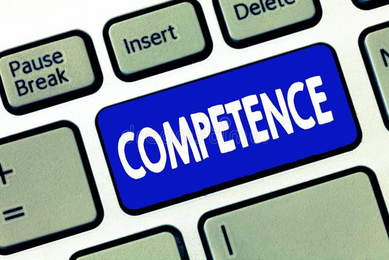 Ord som skriver textkompetens Affärsidé för att kunskapskapacitet ska göra något lyckat effektivt royaltyfria bilder