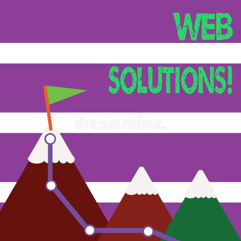 Ord som skriver textrengöringsduklösningar Affärsidé för program över nätverk och tillgängligt till och med rengöringsdu royaltyfri illustrationer