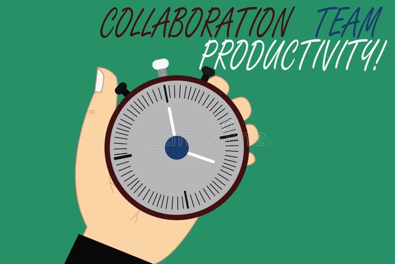 Ord som skriver textsamarbete Team Productivity Affärsidé för fastställda lagmål för nående gemensam vision Hu stock illustrationer