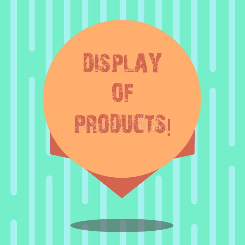 Ord som skriver textskärm av produkter Affärsidé för väg att tilldra och locka köpande allmänhet som använder showmellanrumsfärg royaltyfri illustrationer