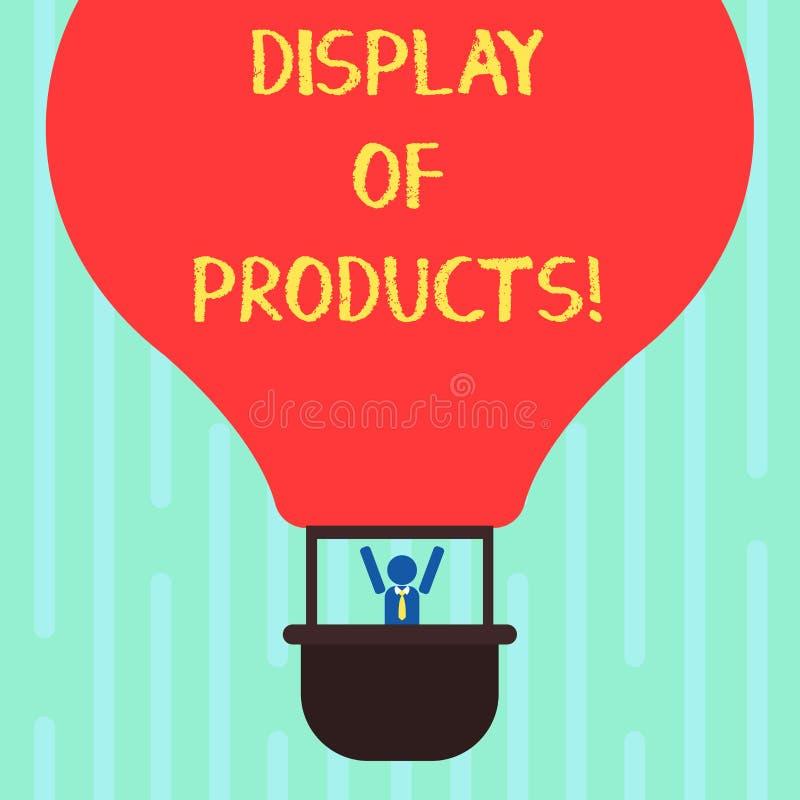 Ord som skriver textskärm av produkter Affärsidé för väg att tilldra och locka köpande allmänhet som använder showHu analys royaltyfri illustrationer