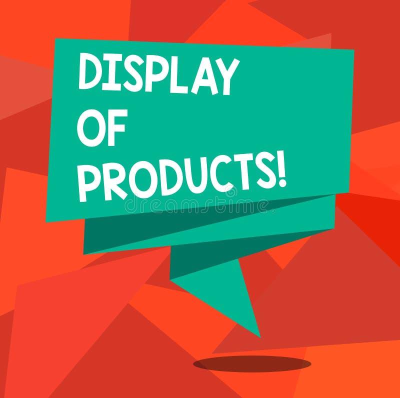 Ord som skriver textskärm av produkter Affärsidéen för väg att tilldra och locka köpande offentlig användande show vek 3D stock illustrationer