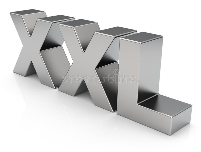 Ord XXL stock illustrationer