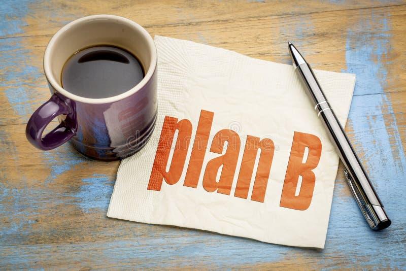 Ordabstrakt begrepp för plan B på servett fotografering för bildbyråer