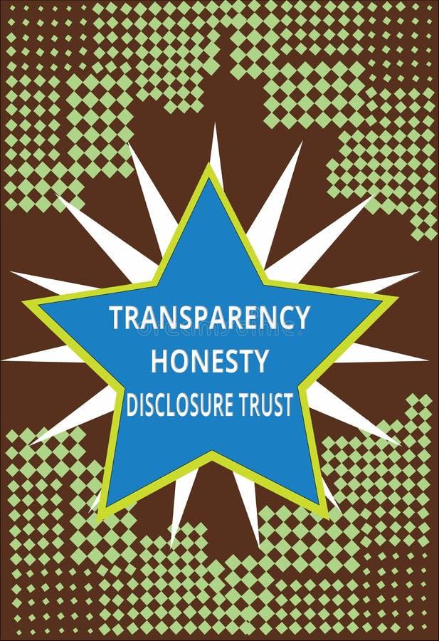 Orden del día político de la mano de la escritura de la demostración de la transparencia de la honradez del acceso de confianza d libre illustration