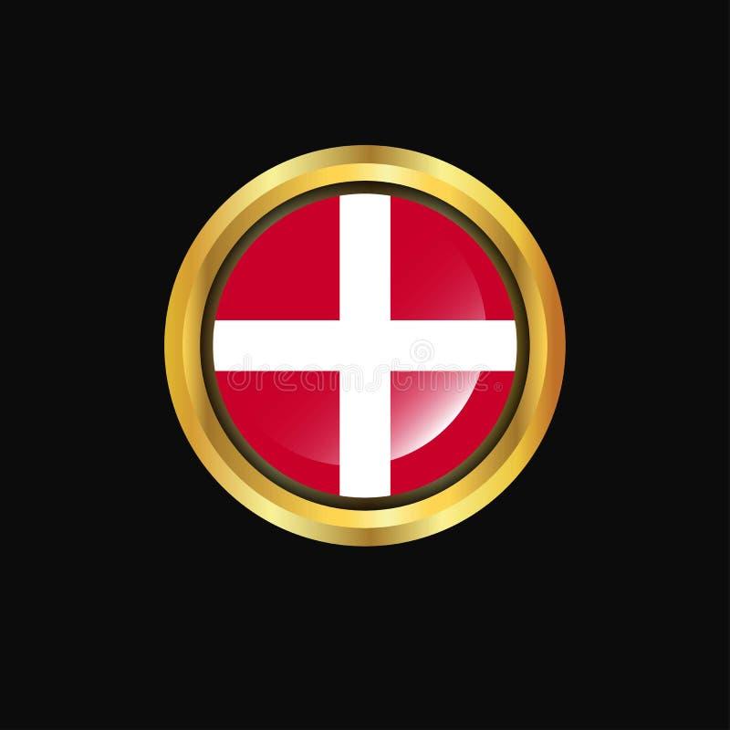 Orden militar soberana del botón de oro de la bandera de Malta ilustración del vector