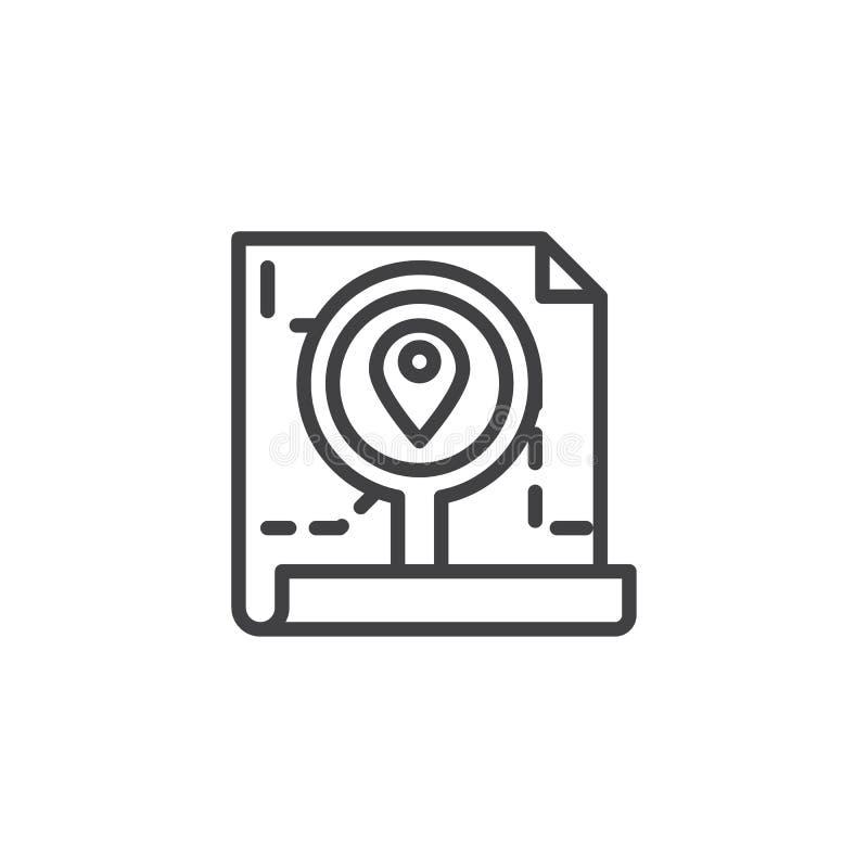 Orden que sigue el icono del esquema ilustración del vector