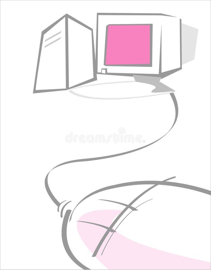 Ordenador ilustración del vector