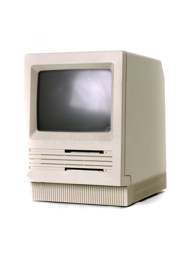 Ordenador clásico de Macintosh imágenes de archivo libres de regalías