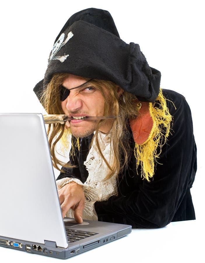 Ordenador de Pirat foto de archivo libre de regalías