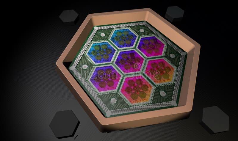 Ordenador de Quantum imagen de archivo libre de regalías