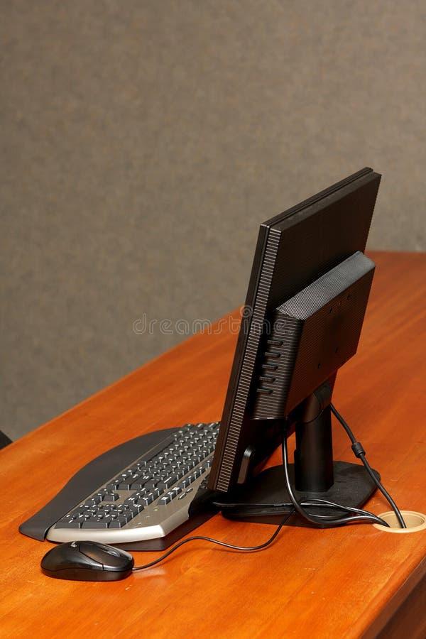 Ordenador del escritorio imagenes de archivo