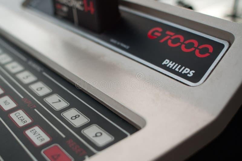 Ordenador del juego video de Philips G7000 fotografía de archivo