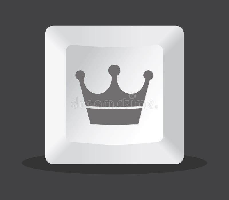 Ordenador dominante de la corona libre illustration