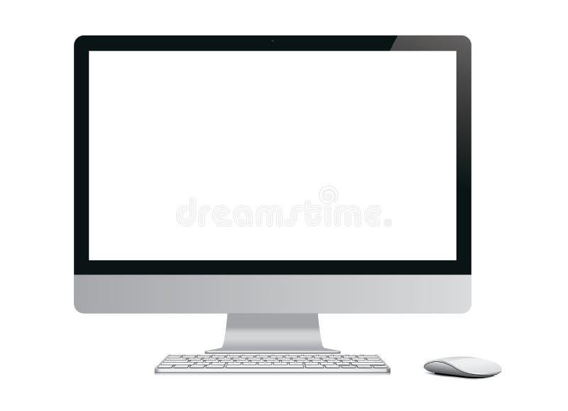 Ordenador en blanco stock de ilustración