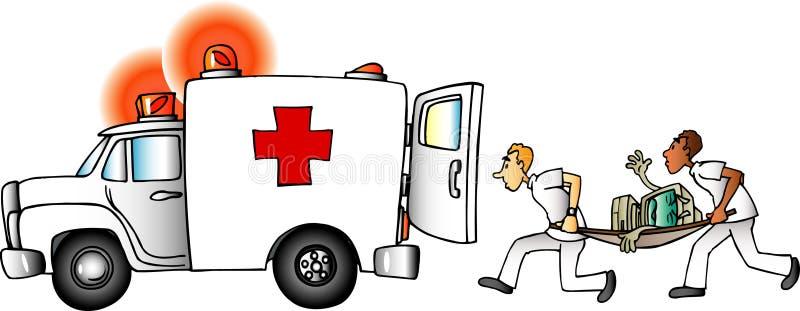 Ordenador enfermo libre illustration