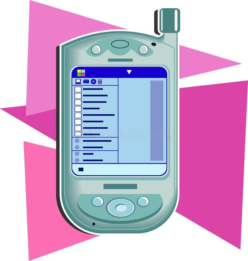 Ordenador Handheld ilustración del vector