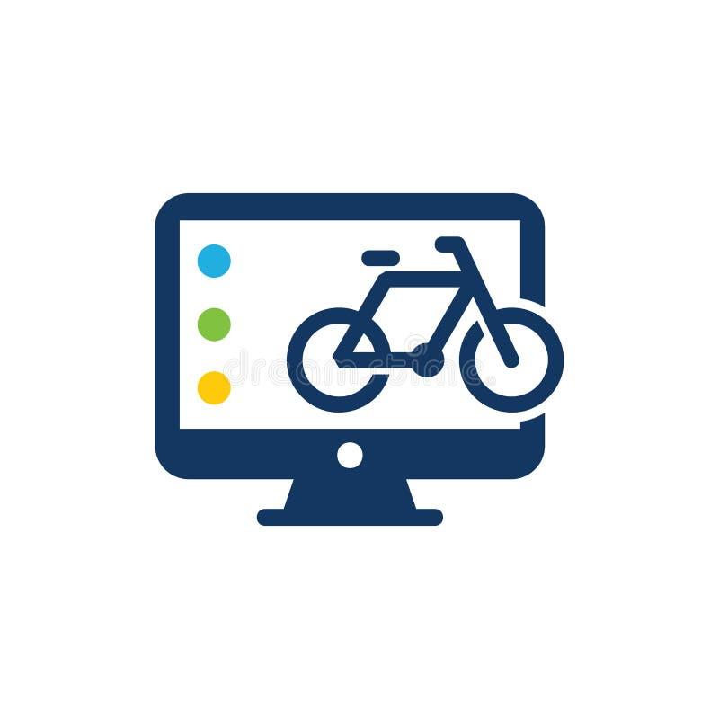 Ordenador Logo Icon Design de la bici libre illustration