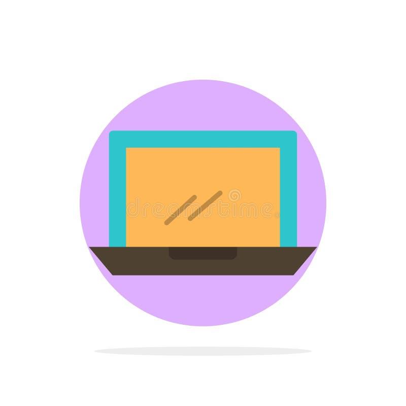 Ordenador, mesa, dispositivo, hardware, icono plano del color de fondo del círculo del extracto de la PC ilustración del vector