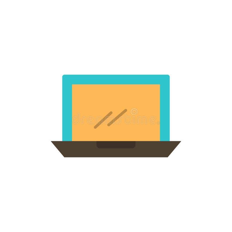 Ordenador, mesa, dispositivo, hardware, icono plano del color de la PC Plantilla de la bandera del icono del vector libre illustration