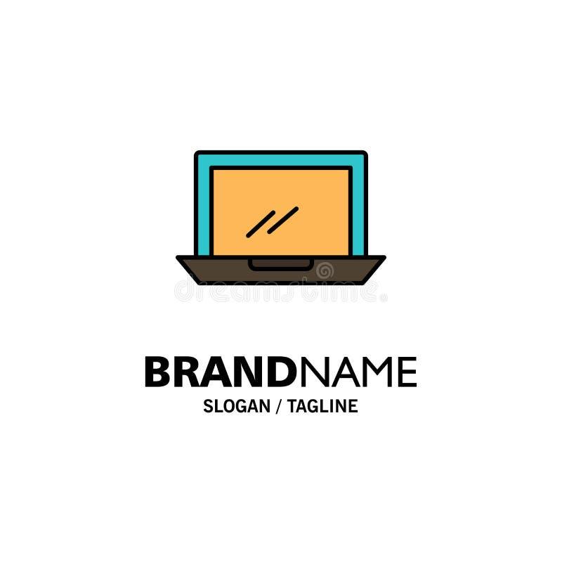 Ordenador, mesa, dispositivo, hardware, negocio Logo Template de la PC color plano ilustración del vector