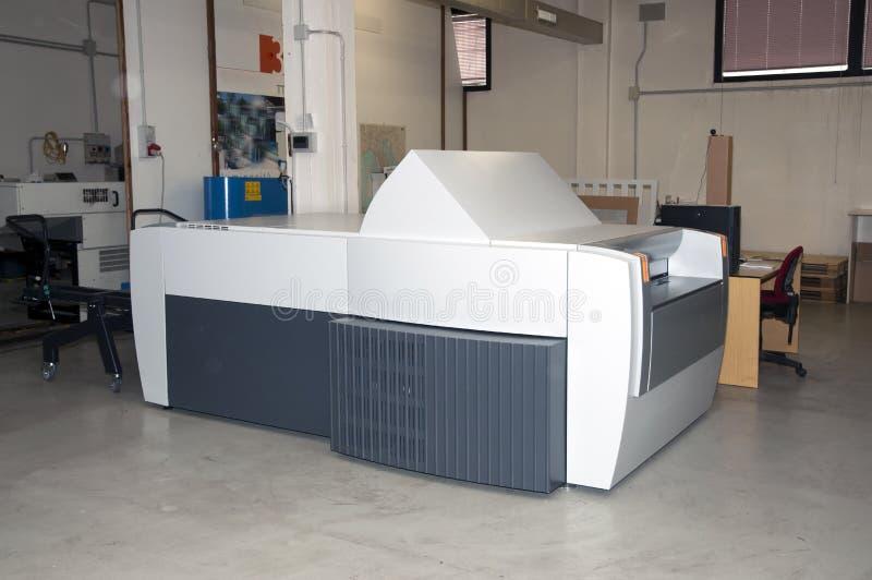Ordenador a platear (CTP) - proceso de impresión fotografía de archivo