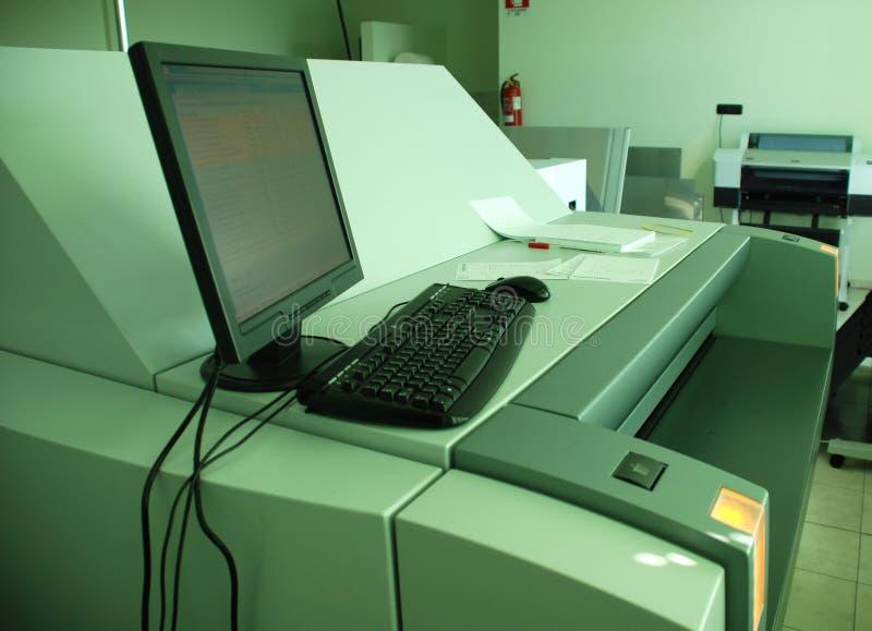 Ordenador a platear (CTP) - proceso de impresión fotografía de archivo libre de regalías