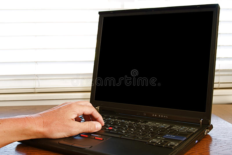 Ordenador portátil foto de archivo libre de regalías