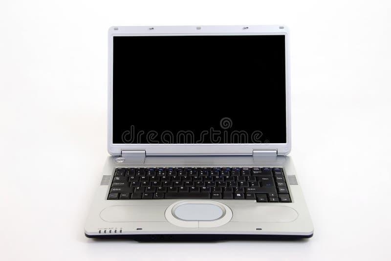 Ordenador portátil de plata imágenes de archivo libres de regalías