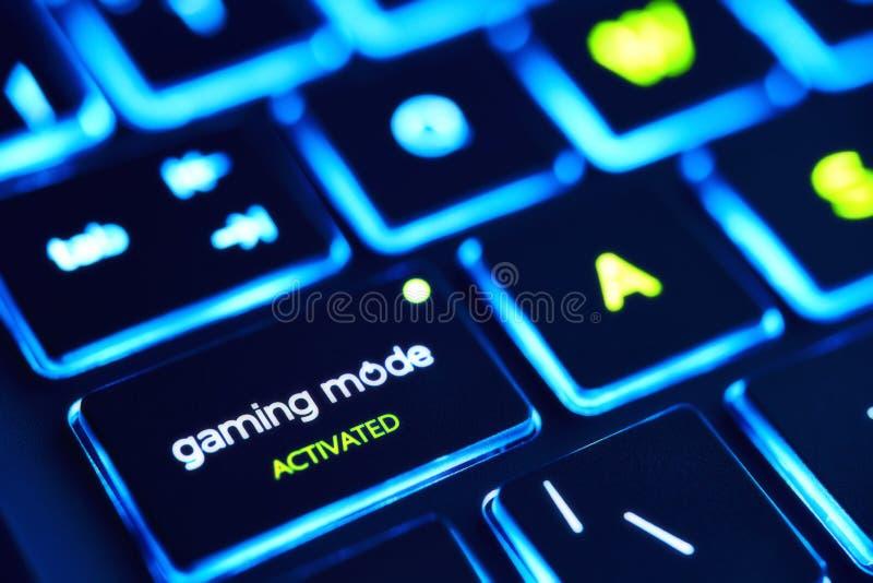Ordenador portátil del juego imágenes de archivo libres de regalías