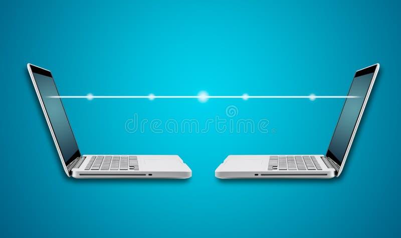 Download Ordenador Portátil Del Ordenador Con Digital Ligero Imagen de archivo - Imagen de ficción, noche: 42440193