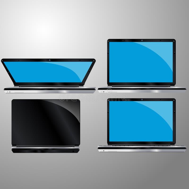 Ordenador portátil, ejemplo del vector imágenes de archivo libres de regalías